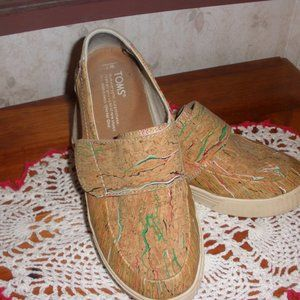TOMS Altair Brown Multi Color Slip-On Shoes 7